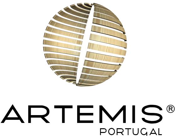 Logótipo Artemis Portugal - versão vertical